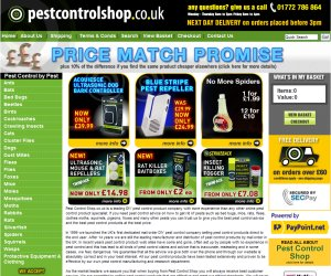 Pest Control Shop - Actinic site design by Site4